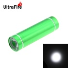 UltraFire 3W LED White Steady on Water Resistant Mini Flashlight - Green (3 x AAA)