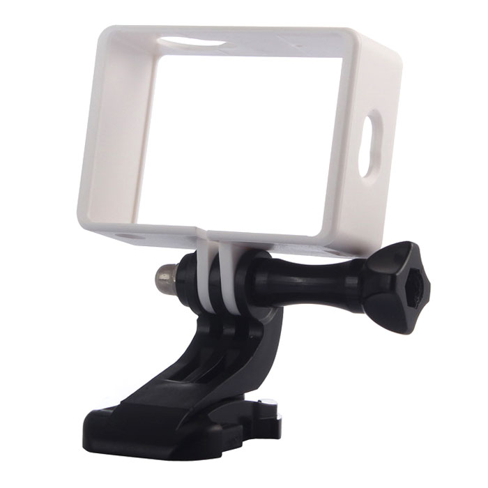 Camera Frame Holder, J-Base, Long Screw for Xiaoyi - White + Black