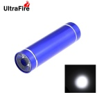 UltraFire 3W LED White Steady on Water Resistant Mini Flashlight - Blue (3 x AAA)
