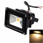 JIAWEN impermeable 10W COB LED proyector blanco cálido 800lm - negro