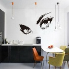 Removable Audrey Hepburn Sexy Beautiful Eyes Art Home Black Hot Vinyl Wall Stickers Decals