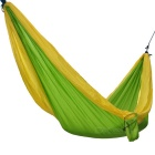 Sunfield Portable Two-Person Parachute Nylon Outdoor Camping Hammock - Yellow + Green