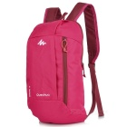 Decathlon Outdoor Travel Casual Canvas Double-Shoulder Bag Schoolbag Backpack - Deep Pink (10L)