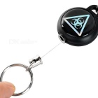 FURA Outdoor Retractable Steel Wire Rope Key Ring - Black + Silver