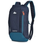 Decathlon Outdoor Travel Casual Canvas Double-Shoulder Bag Schoolbag Backpack - Deep Blue (10L)