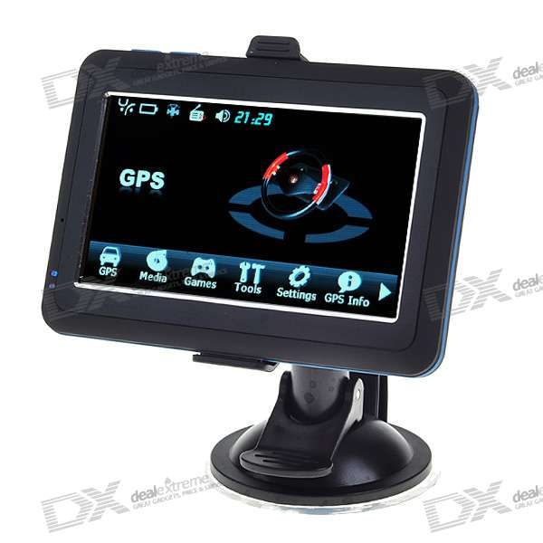 "4.3"" LCD Windows CE 6.0 Core GPS Navigator  w/FM Transmitter + Built-in 4GB Brazil Street Maps"