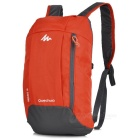 Decathlon Outdoor Travel Casual Canvas Double-Shoulder Bag Schoolbag Backpack - Orange (10L)