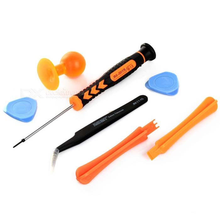 JAKEMY 7-in-1 Screwdriver + LCD Suction Cup + Tweezers Repair Tool Set for Samsung Mobile Phone