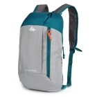 Decathlon Outdoor Travel Casual Canvas Double-Shoulder Bag Schoolbag Backpack - Blue + Grey (10L)