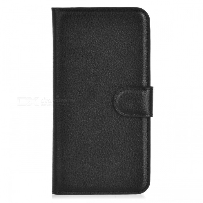 Embossed PU Leather Case w/ Card Slots for Samsung Galaxy S6 - Black
