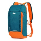 Decathlon Outdoor Travel Casual Canvas Double-Shoulder Bag Schoolbag Backpack - Cyan + Orange (10L)