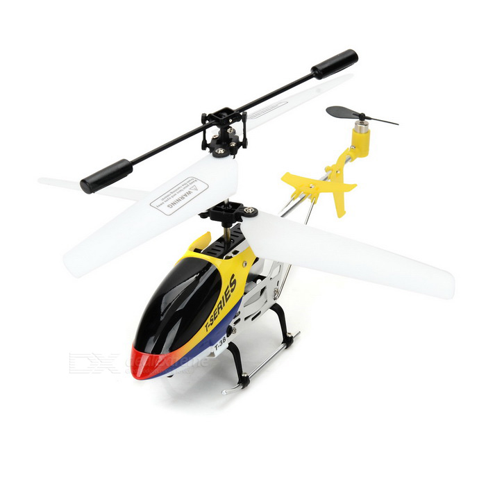 MJXR/C T38 Mini 3-CH Alloy UAV R/C Helicopter w/ Gyro - Yellow + White