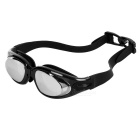 UV Protection Anti-Fog PC Swimming Glasses - Black