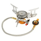 Portable Utral Light Strong Power Outdoor Camping Gas Stove Burner - Silver