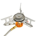 Portable Utral Light Strong Power Camping Gas Stove Burner - Silver