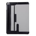 Toothpick Grain PU + PC Case for IPAD AIR / AIR 2 - Grey + Black