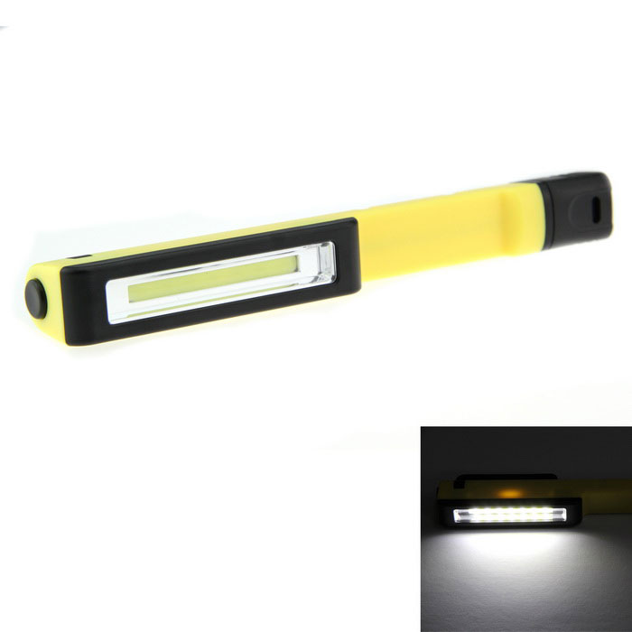 1-LED 160lm 1-Mode Cold White Work Lamp Flashlight - Yellow + Black