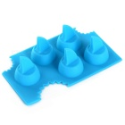 DIY Shark Fin Shape Silicone Ice Cube Tray / Ice Maker Mold - Blue