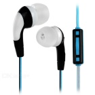 Fashion Universal 3.5mm Plug In-Ear Earphone - Black + Blue