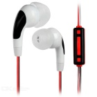 Fashion Universal 3.5mm Plug In-Ear Earphone - White + Red + Black