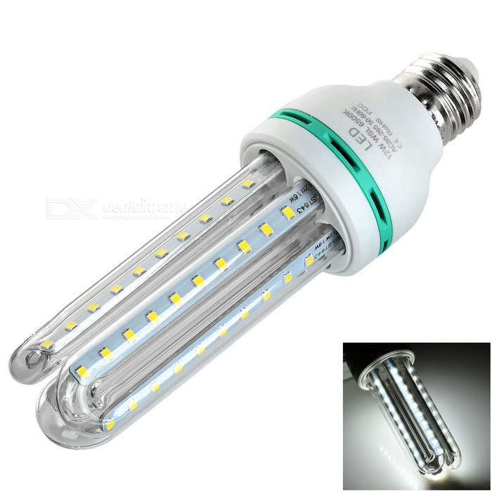 E27 12W 3U-Shaped LED Corn Lamp Cold White Light 1000lm SMD 2835
