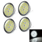 MR16 4W LED Lamp Bulb White Light 6500K 280lm 24-SMD 5050 - Yellow + Silver (AC 12V / 4pcs)