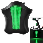 Bicycle 5-LED Green Light 2 x Red Laser Tail Light (2 x AAA)