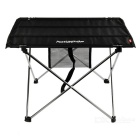 NatureHike Portable Outdoor Camping Picnic Aluminum Alloy Folding Table Desk - Black