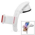 3-in-1 Multifunction Car Vent Outlet Mount Holder & Suction Cup Stand w/ Extended Arm - White + Red