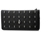 Fashion Skull Style Long Type Wallet - Black