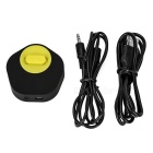 2-in-1 Bluetooth 3.5mm Receiver & Transmitter Adapter - Black + Yellow