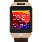 Wearable Bluetooth v4.0 Smart Watch for Android / iOS Cell Phone - Brown + Champagne Gold