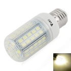 WaLangTing E27 7W LED Corn Lamp White Light 4500K 500lm 72-SMD 5730 - White (110~240V)
