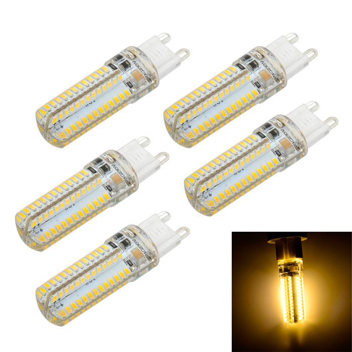 G9 10W LED Light Crystal Bulb Lamp Warm White 104-SMD (5PCS)