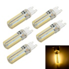 G9 10W LED Light Crystal Bulb Lamp Warm White 800lm 3000K 104-SMD 3014 (AC 220V / 5PCS)