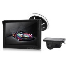"5"" TFT LCD HD Car Rearview Displayer Monitor + Camera + Reverse Backup Radar Sensor Set - Black"