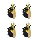 Jtron 3-Pin Push Button Switch - Bronze (4 PCS)