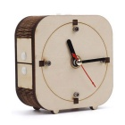 DIY Back-in-Time Counter-Clockwise Wooden Clock Set - Wood Color