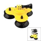 PANNOVO Plastic Low 3-Suction-Cup Mount Holder for GoPro Hero 4 / 3+ / Xiaoyi / SJ4000/SJ5000/SJ6000
