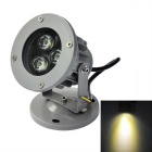 JIAWEN Waterproof 3W LED Spotlight Warm White 3200K 270lm - Grey (AC 85~265V)