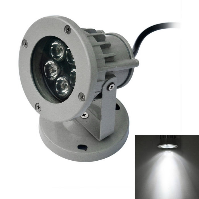 JIAWEN impermeable con cable 5W proyector LED luz blanca 6500K - gris