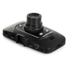 "2.4"" TFT 5.0MP 1080P Wide-Angle 4-LED Car DVR w/ 8GB TF Card - Black"