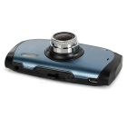 "2.7"" 1080P 170' Wide-Angle 12MP Car DVR Camera - Black + Blue"