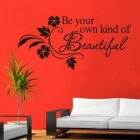 Beautiful Flower Vine Wall Sticker / Art Decor Decal - Black
