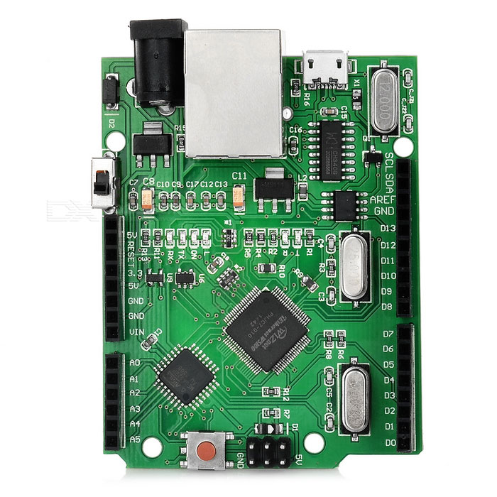 UNO R3 + W5100 Ethernet Shield Integrated Board for Arduino