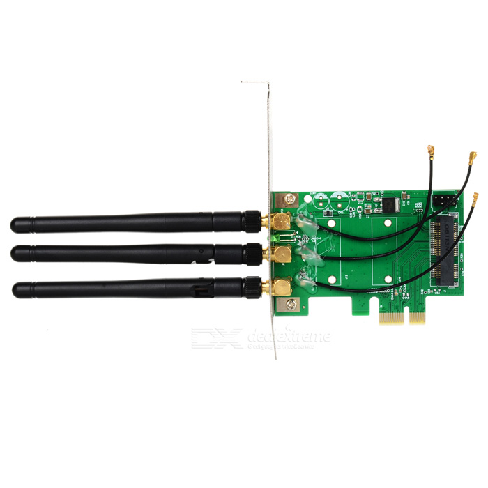 Mini PCI-E to PCI-E/PCI Express Adapter with Three Antennas