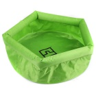 Aotu AT6622 bewegliche im Freien Travel Folding Water Container Carrier-Bucket Washbowl - Green