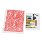 Magic Paper Small Playing Card to Large Card Toy - Red + Multicolored