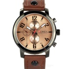 CURREN 8192 Men's PU Band Quartz Analog Wrist Watch - Brown + Black (1 x 626)