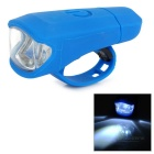 Leadbike A50 USB Rechargeable 2-LED 2-Mode White Light Bike Bicycle Lamp Headlight - Blue